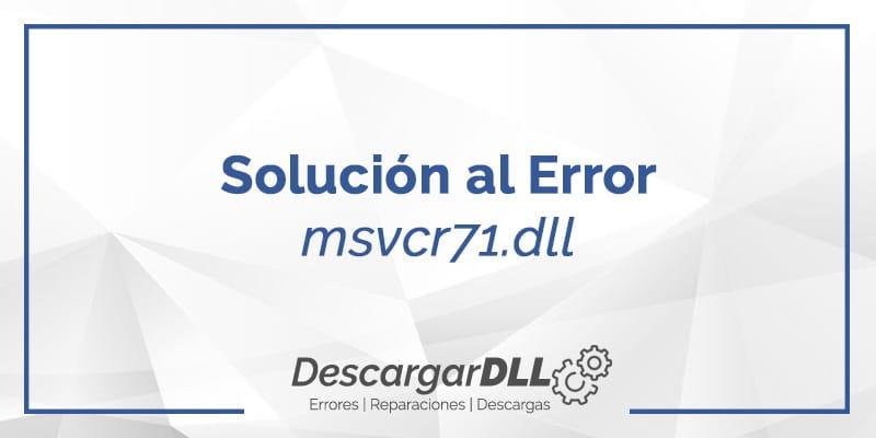 descargar msvcr71.dll